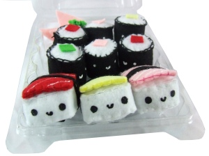 Sushi Shack Mini Sushi plush set