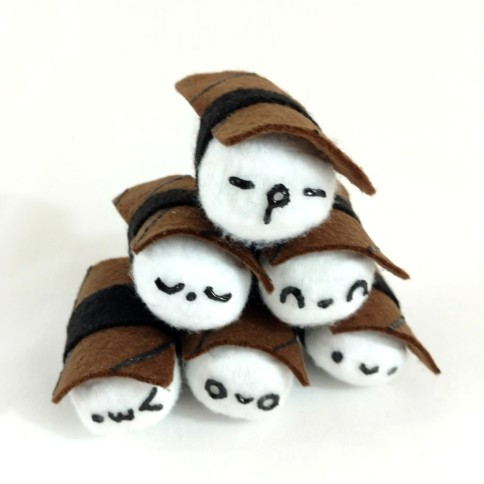 Unagi sushi mini plush come in 16 different expressions!